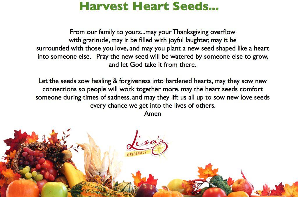 A Thanksgiving Prayer…