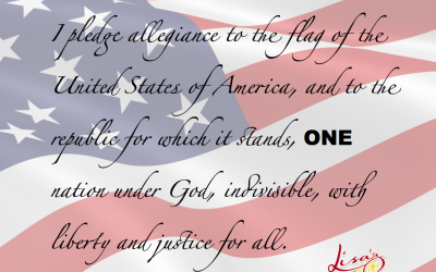 ONE nation under God…