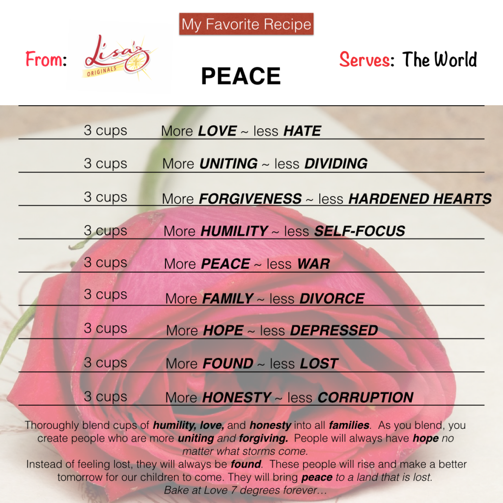 Peace Runneth Over    - Lisaz Originals   Infinite Links