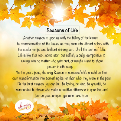Seasons of LIFE…